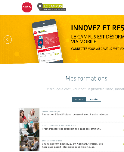 E-learning web application pour Nexity